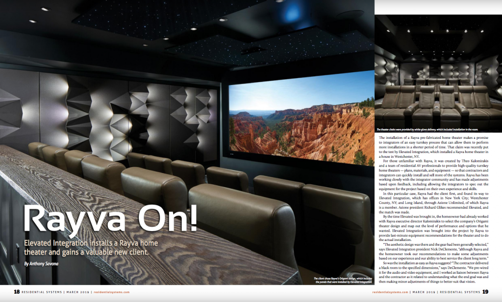 Elevated Integration Install Rayva Home Theater