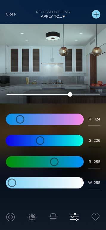 Lighting Control WRGB Sliders